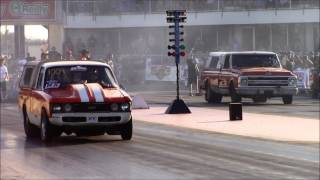 Street Outlaws Farmtruck vs Mini Farmtruck at American Outlaws Live