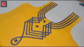 Stylish Neck Designs for Kurti width=