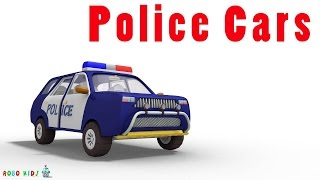 police cars for children | police car cartoons for children | sergeant cooper the police car