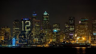 '12th building'? Seattle skyline lights up for the Seahawks