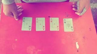 Revelação da mágica dos quatro ases.