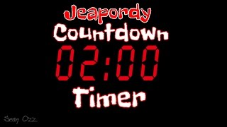 Jeopardy Music - Two Minute Timer Countdown