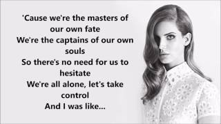 Lana Del Rey ft. The Weeknd - Lust For Life (Lyrics)