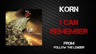 Korn - I Can Remember [Lyrics Video]
