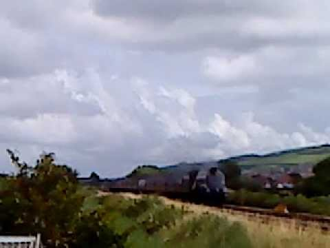 Union of South Africa passing Prestatyn with North Wales Express 29.7.12.