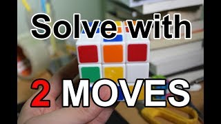 How to Solve a Rubik with Two Moves - Rubik's Cube Magic Tricks #4 width=