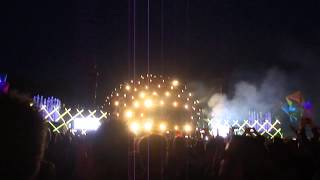Fireworks at the end of Paul Van Dyk @ Electronic Family 2015