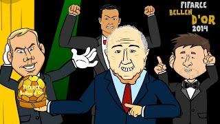🌟Ballon d'Or 2014-2015 RAP BATTLE🌟 (Winner Cristiano Ronaldo vs Messi vs Neuer) FIFA Award Cartoon