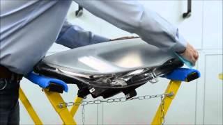 Headlight repair step by step from HBC system smart repair tool