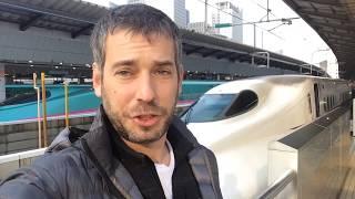 Japonská železničná stanica - šinkansen a vlaky