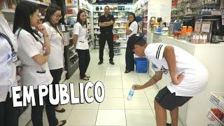 DESAFIO DA GARRAFA EM PUBLICO