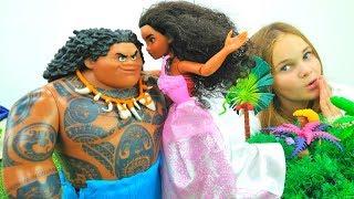 #Моана и Мауи: СВАДЬБА!👰💐 #МультикиДляДетей Игрушки из мультиков #Куклы ОДЕВАЛКИ