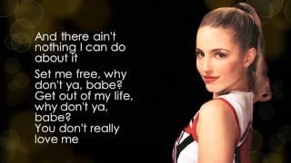 Glee - You Keep Me Hangin' On (lyrics)