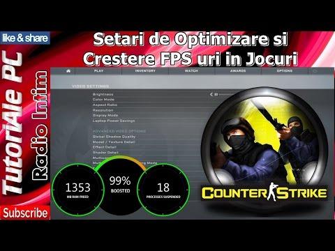 Setari de Optimizare si Crestere FPS uri in Jocuri