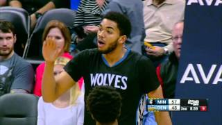 Karl-Anthony Towns Records Second Straight Double-Double