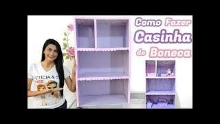 Como fazer CASINHA para boneca BARBIE,( Nova casa da Barbie para proxima novelinha)