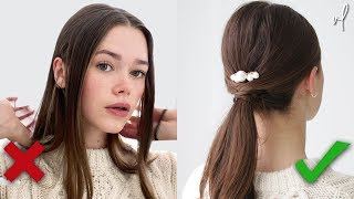 8 Ways To Style Your Hair | **Under 60 Seconds**