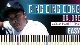 How To Play: Dr. Dre - Keep Their Heads Ringin' - Ring Ding Dong | Piano Tutorial EASY + Sheets