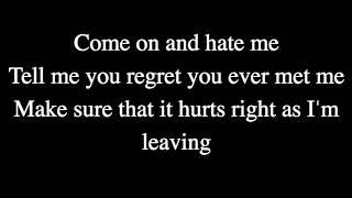 Jillian Jacqueline - Hate Me Lyrics