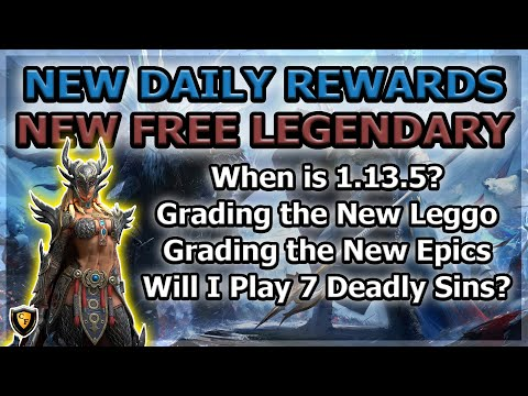 RAID Shadow Legends | New Daily Rewards and Free Leggo + Epics! | Full Review of Abilities