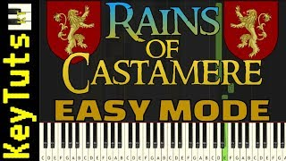 Learn to Play Rains of Castamere from Game of Thrones - Easy Mode