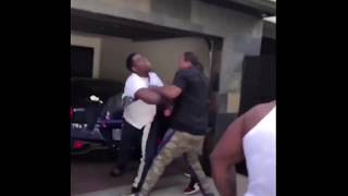 """""""I'm Tyrone"""" smacks Casanova 2x cigarette out his hand & Cass gets the strap 😂"""