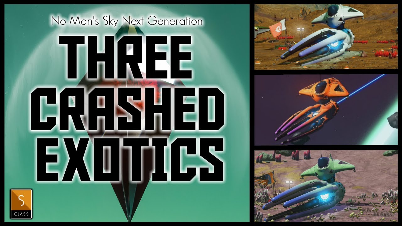 Manic Miners - No Man's Sky Origins - Three Crashed SClass Exotic Squid Ships - Free Crashed Ships No Mans Sky 2021