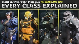 Earth Defense Force: Iron Rain | EVERY CLASS EXPLAINED + TIPS (Maximize Your Bug Squashing!)