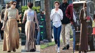 Kristen Stewart Makes a Quick Costume change on Savannah set of Lizzie Borden Biopic with Chloe Sevi