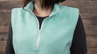 How to Sew a Partial Zipper - Quarter Zipper