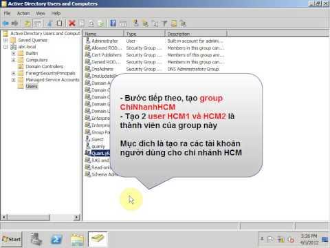 LAB Windows Server 2008 - Read-Only Domain Controller (RODC) (Part1).wmv