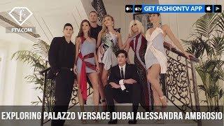 Alessandra Ambrosio Stuns at Palazzo Versace Dubai in Atelier Versace Dress | FashionTV | FTV