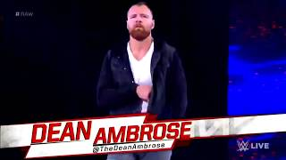 "Dean Ambrose's Heel Entrance with ""The Vengeful One"" Theme Song - WWE Raw 11/19/18 (Edited)"