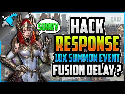 *HACKS* RESPONSE... 10X Event ...Fusion Delay?! | BGE's Formal Apology | RAID: Shadow Legends