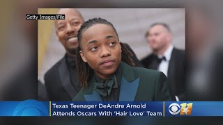 Texas Teen DeAndre Arnold Attends Oscars With 'Hair Love' Team