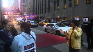 Traffic Outside of Radio City Music Hall