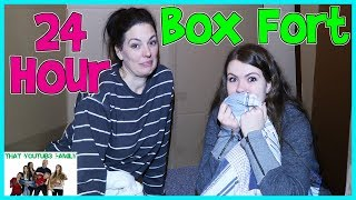 24 Hours - Overnight In Huge Box Fort Maze (Fan Favorite) / That YouTub3 Family   The Adventurers