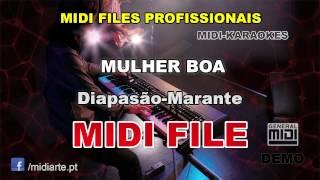 ♬ Midi file  - MULHER BOA - Diapasão-Marante