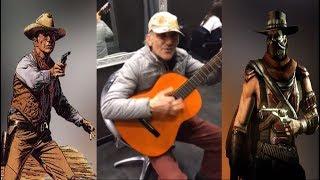 Increíble anciano interpreta música del VIEJO OESTE - Canción de vaqueros de Ennio Morricone.