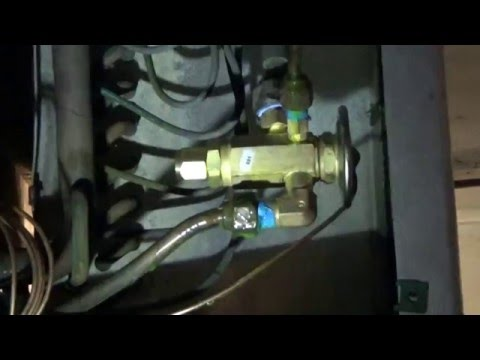 Expansion valve replace and adjust