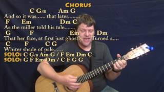 Whiter Shade of Pale (Procol Harum) Guitar Cover Lesson with Chords/Lyrics - Munson