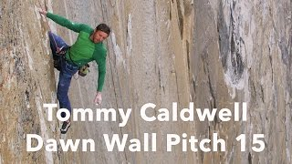 Tommy Caldwell Climbing Pitch 15   The Dawn Wall