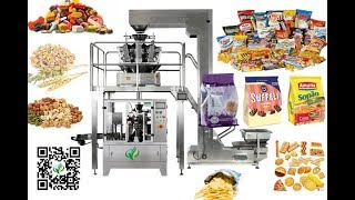 Rotary zippered pouch candy packing machine granule premade bag filler sealer