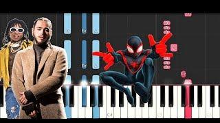 Post Malone, Swae Lee - Sunflower (Spiderman Into the Spider Verse) (Piano Tutorial)