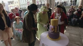 Queen receives cake from Great British Bake Off's Nadiya Hussain