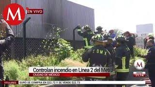 Controlan incendio en Línea 2 del Metro