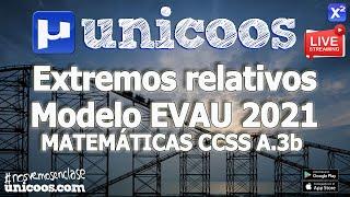 Imagen en miniatura para LIVE!!! Modelo EvAU 2021- Matemáticas CCSS 04 - Ejercicio A.3b - Crecimiento y Extremos relativos