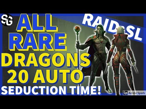 [RAID SHADOW LEGENDS] ALL RARE DRAGONS 20 ON AUTO