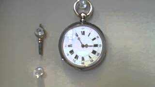 Antique Pocket Watch is alive, swinging at each tic tac, cylindre huit rubis 1880