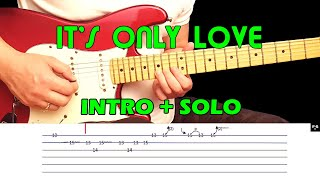 Guitar intro and solo cover - IT'S ONLY LOVE - Bryan Adams & Tina Turner - fast and slow with tabs